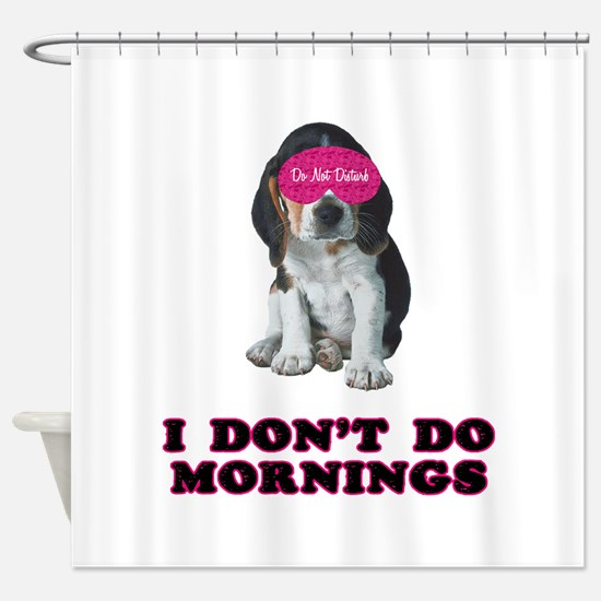 Beagle Mornings Shower Curtain