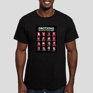 White Shepherd Emotions Men's Fitted T-Shirt (dark