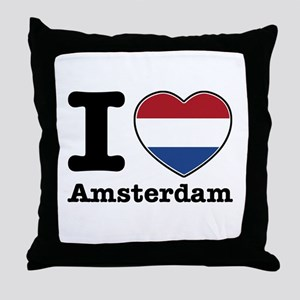I love Amsterdam Throw Pillow