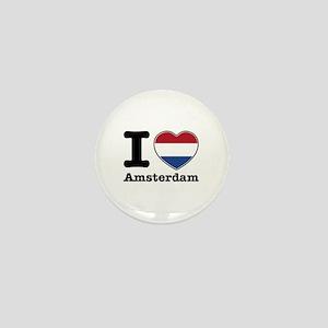 I love Amsterdam Mini Button