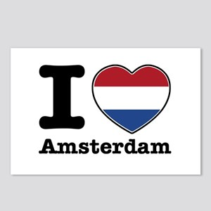 I love Amsterdam Postcards (Package of 8)