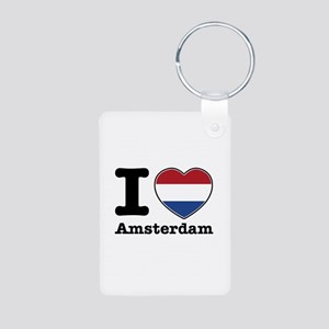 I love Amsterdam Aluminum Photo Keychain