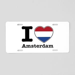 I love Amsterdam Aluminum License Plate
