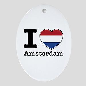 I love Amsterdam Ornament (Oval)