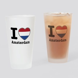 I love Amsterdam Drinking Glass