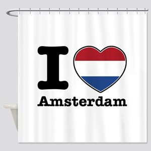 I love Amsterdam Shower Curtain