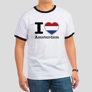 I love Amsterdam Ringer T