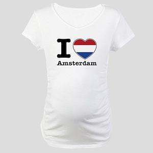 I love Amsterdam Maternity T-Shirt