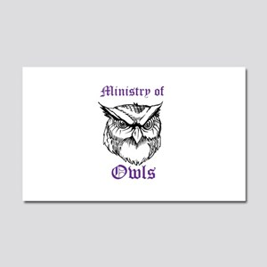 Ministry of Owls Car Magnet 20 x 12