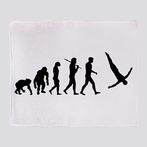 Diving Evolution Throw Blanket