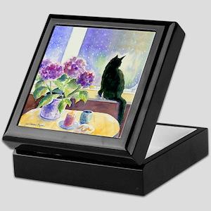Black Cat Tile Keepsake Box