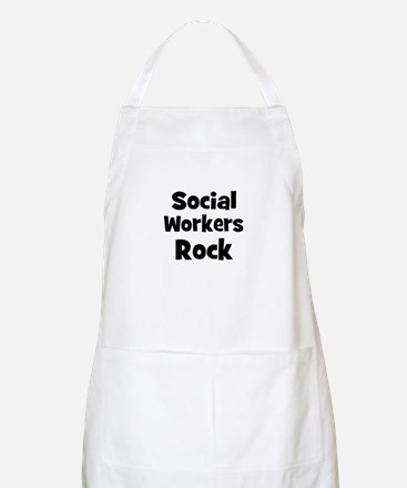 SOCIAL WORKERS  Rock BBQ Apron