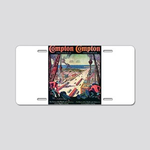 Compton Aluminum License Plate