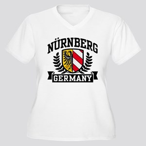 Nurnberg Germany Women's Plus Size V-Neck T-Shirt