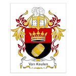 Van Keulen Coat of Arms Small Poster