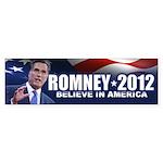 Romney Believe 2012 Sticker (Bumper)