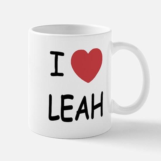 I heart leah Mug