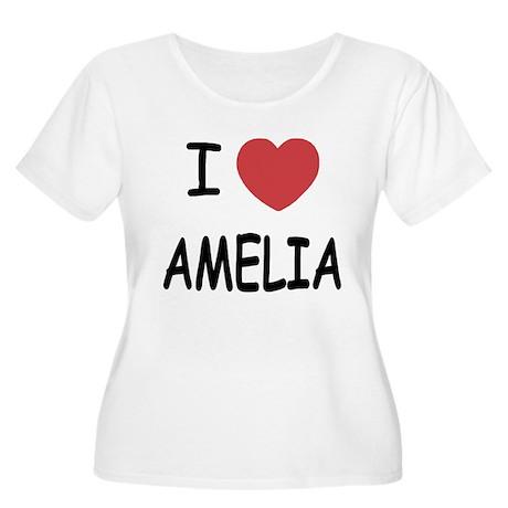 I heart amelia Women's Plus Size Scoop Neck T-Shir