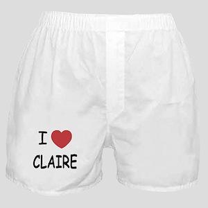 I heart claire Boxer Shorts