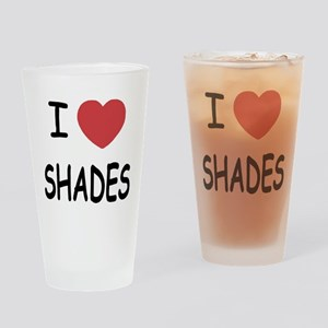 I heart shades Drinking Glass