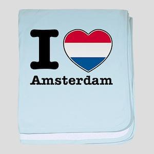 I love Amsterdam baby blanket