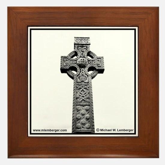 Celtic Cross Ireland Framed Tile
