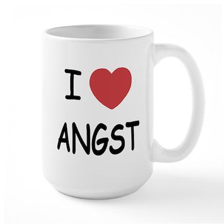 I heart angst Large Mug