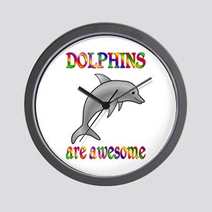 Awesome Dolphins Wall Clock