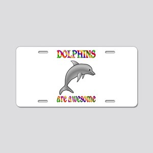 Awesome Dolphins Aluminum License Plate