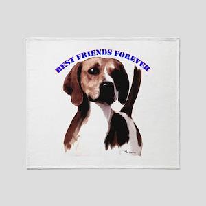 hound best friend Throw Blanket