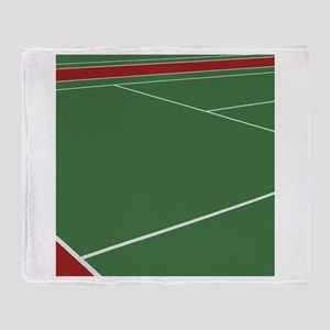 Tennis Court Throw Blanket