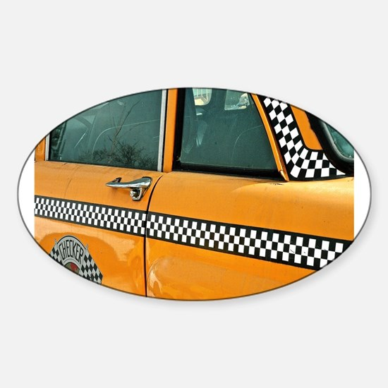 Checker Cab No. 3 Sticker (Oval)