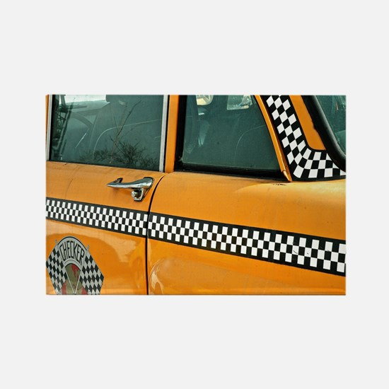 Checker Cab No. 3 Rectangle Magnet