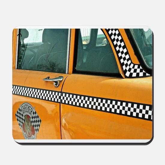Checker Cab No. 3 Mousepad