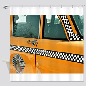 Checker Cab No. 3 Shower Curtain