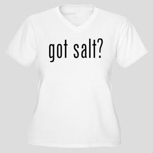 Got salt? Women's Plus Size V-Neck T-Shirt