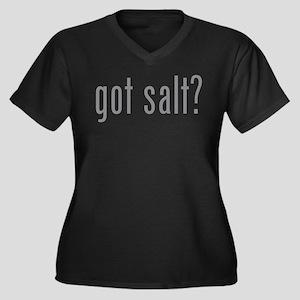 Got salt? Women's Plus Size V-Neck Dark T-Shirt