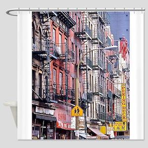 Chinatown: New York City Shower Curtain