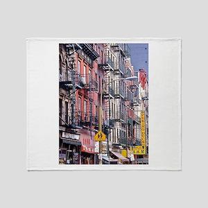 Chinatown: New York City Throw Blanket