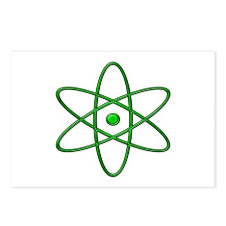 """Orbit, Green"" Postcards (Package of 8)"