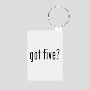 Got five? Aluminum Photo Keychain