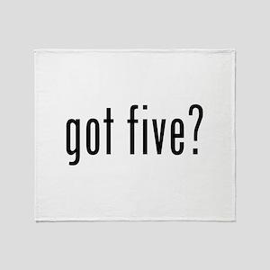 Got five? Throw Blanket