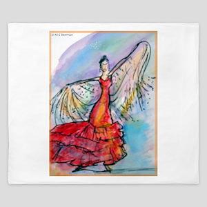 Flamenco Dancer, art, bright, King Duvet