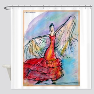 Flamenco Dancer, art, bright, Shower Curtain