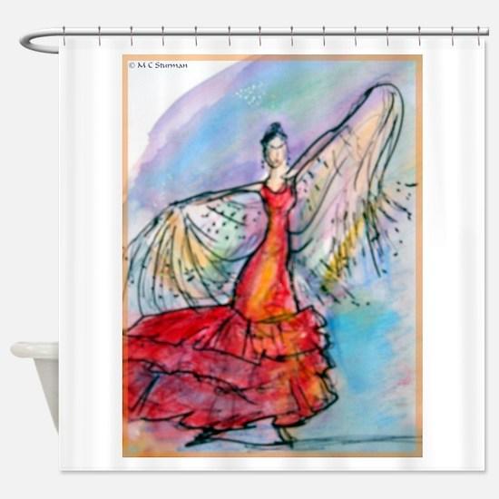 Flamenco Dancer, art, bright, Shower Curtain