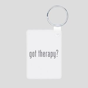 Got therapy? Aluminum Photo Keychain