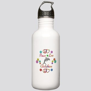Peace Love Dolphins Stainless Water Bottle 1.0L