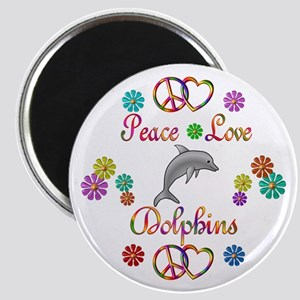 Peace Love Dolphins Magnet