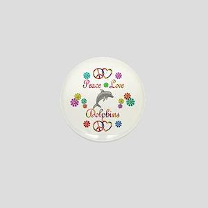 Peace Love Dolphins Mini Button