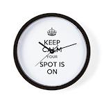 Keep Calm Spot is On Wall Clock